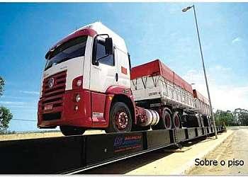 Balança de pesar caminhão
